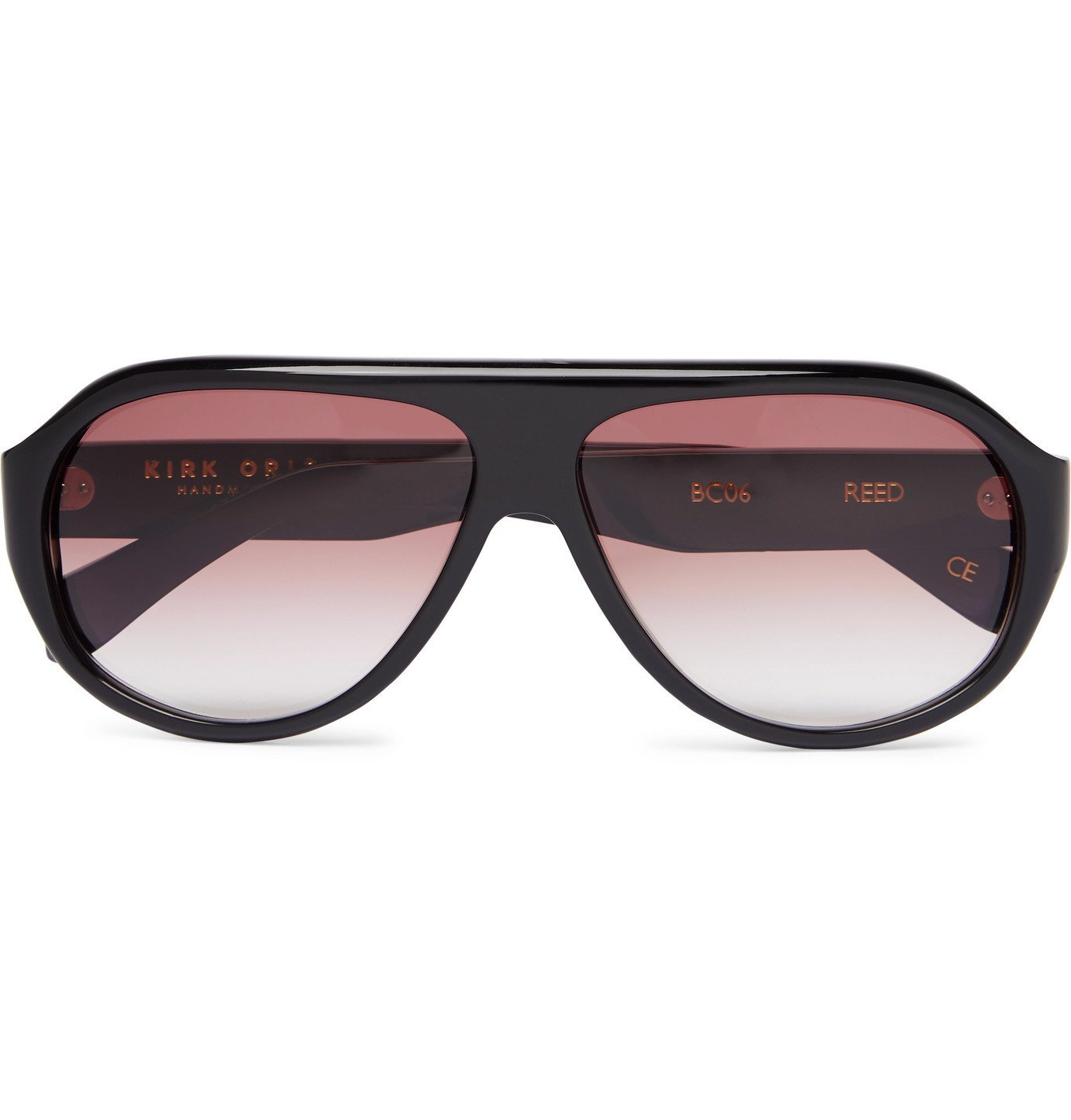 Photo: Kirk Originals - Reed Aviator-Style Acetate Sunglasses - Black