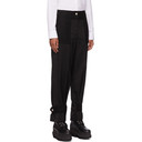 Sacai Black Wool Ankle Strap Suiting Trousers