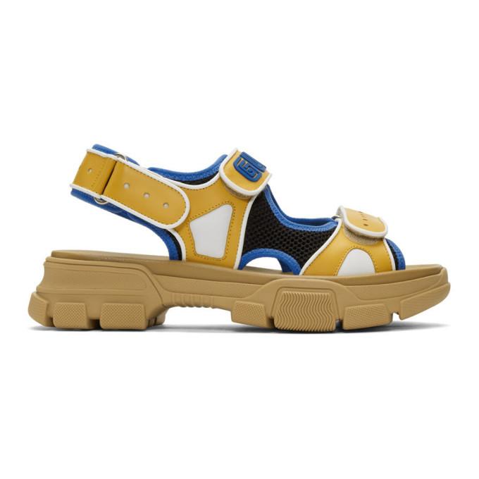 Photo: Gucci Yellow and Black Aguru Sandals