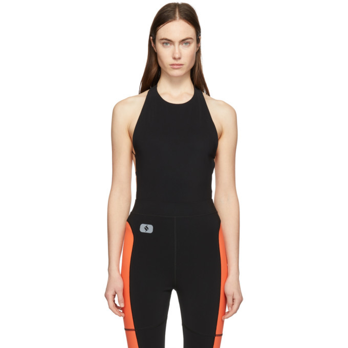 Photo: alexanderwang.t Black Criss Cross Strap Bodysuit