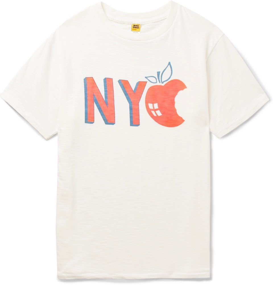 Photo: Velva Sheen - Printed Slub Cotton-Jersey T-Shirt - Men - Cream