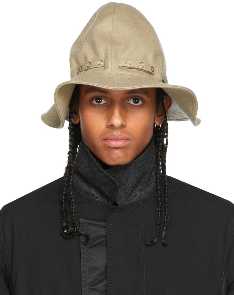 Sacai Beige Wool Mountain Metro Hat
