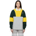 adidas Originals Yellow and Green Samstag Rugby Polo