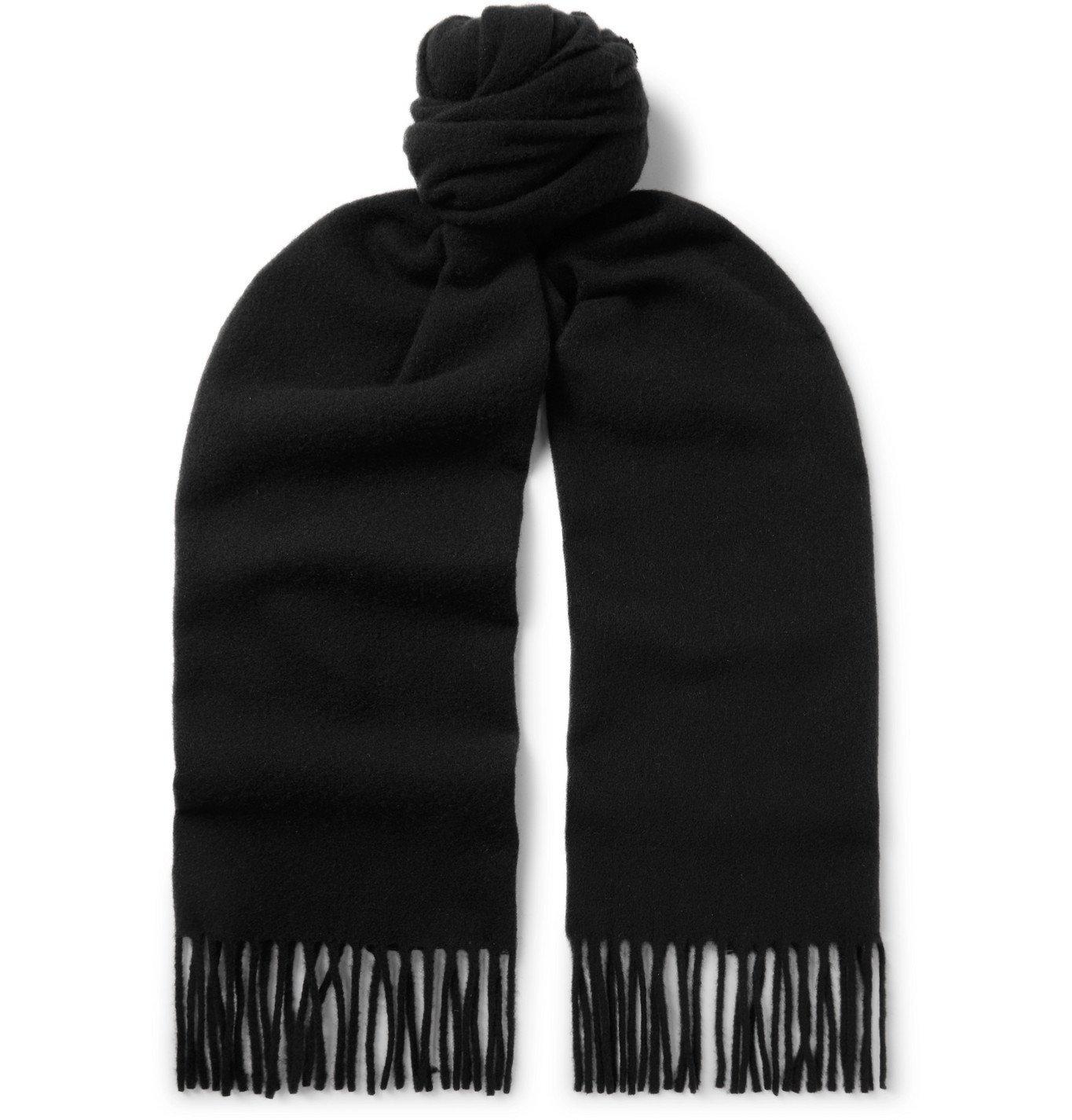 Photo: A.P.C. - Fringed Virgin Wool-Felt Scarf - Black