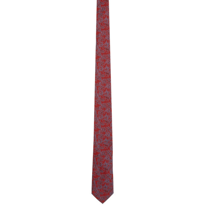 Salvatore Ferragamo Red Lovers Tie
