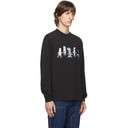 Aries Black Cartoon Columns T-Shirt