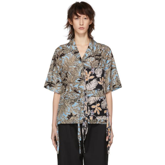 3.1 Phillip Lim Multicolor Patchwork Camp Shirt