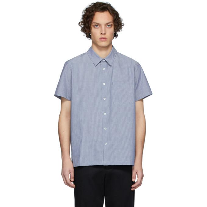 Photo: A.P.C. Blue Bruce Short Sleeve Shirt