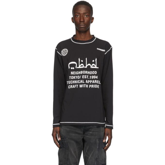 Photo: Neighborhood Black Rash Guard Long Sleeve T-Shirt