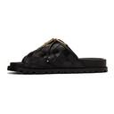 Sacai Black Patchwork Straps Sandals