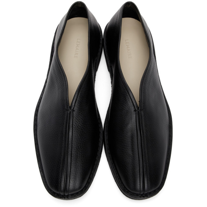Lemaire SSENSE Exclusive Black Leather Loafer