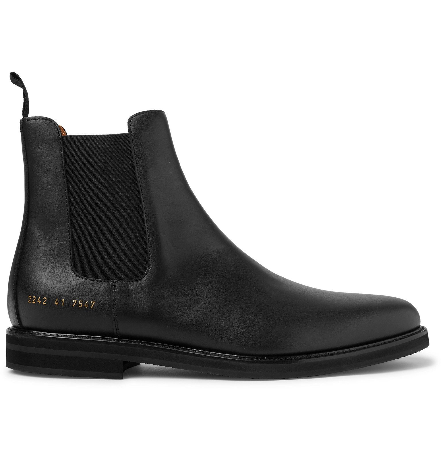 Common Projects - Leather Chelsea Boots - Black