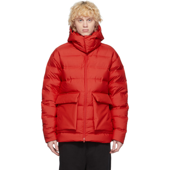 Photo: Y-3 Red Down Classic Puffy Jacket