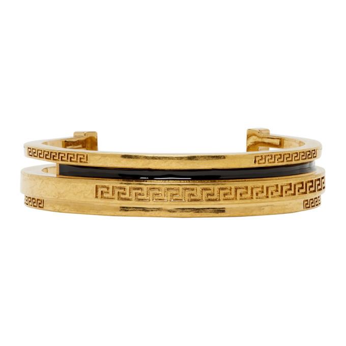 Photo: Versace Gold Greek Cuff Bracelet