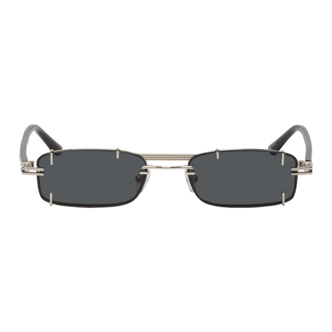 Photo: Y/Project Silver and Black Linda Farrow Edition Neo Sunglasses