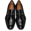 Giorgio Armani Black Bit Loafers