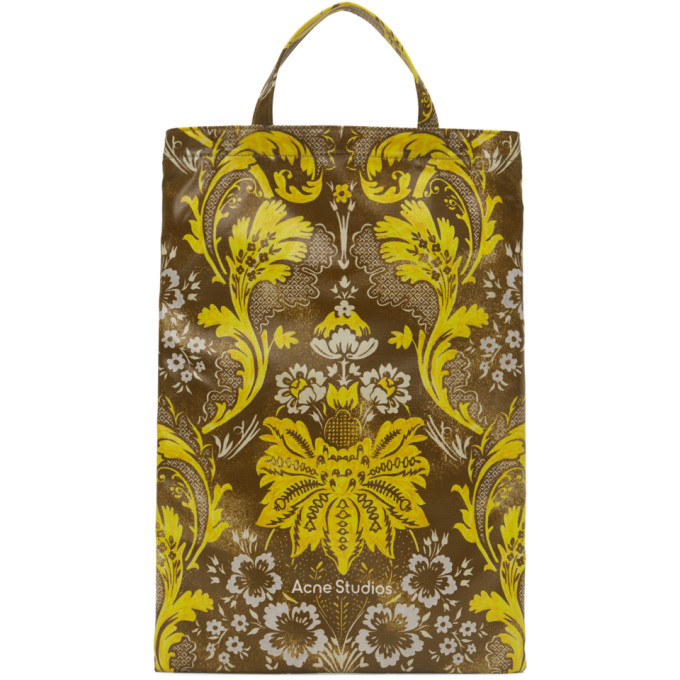 Photo: Acne Studios Brown and Yellow Floral Print Tote