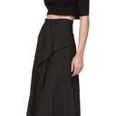 3.1 Phillip Lim Black Side Ruffle Skirt