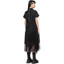Sacai Black Lace Shirting Dress