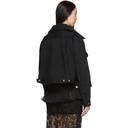 Sacai Black Denim Double-Layer Jacket