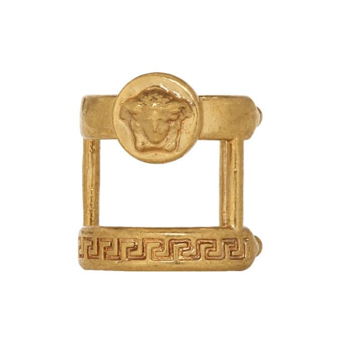 Photo: Versace Gold Single Double Ear Cuff