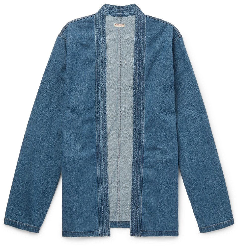 Photo: KAPITAL - Cotton-Chambray Jacket - Navy