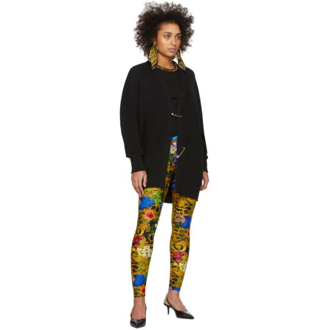 Versace Jeans Couture Multicolor Tropical Barocco Leggings