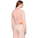 Stella McCartney Pink Denim Galaxy Wash Jacket