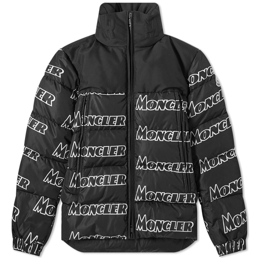 729dbbb4d Moncler Faiveley All Over Logo Print Down Jacket