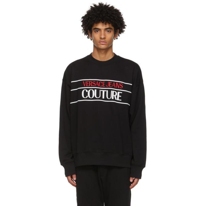 Photo: Versace Jeans Couture Black Logo Sweatshirt