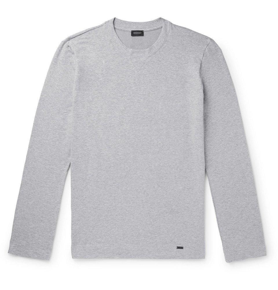 Hanro - Mélange Loopback Stretch-Cotton Jersey Sweatshirt - Gray