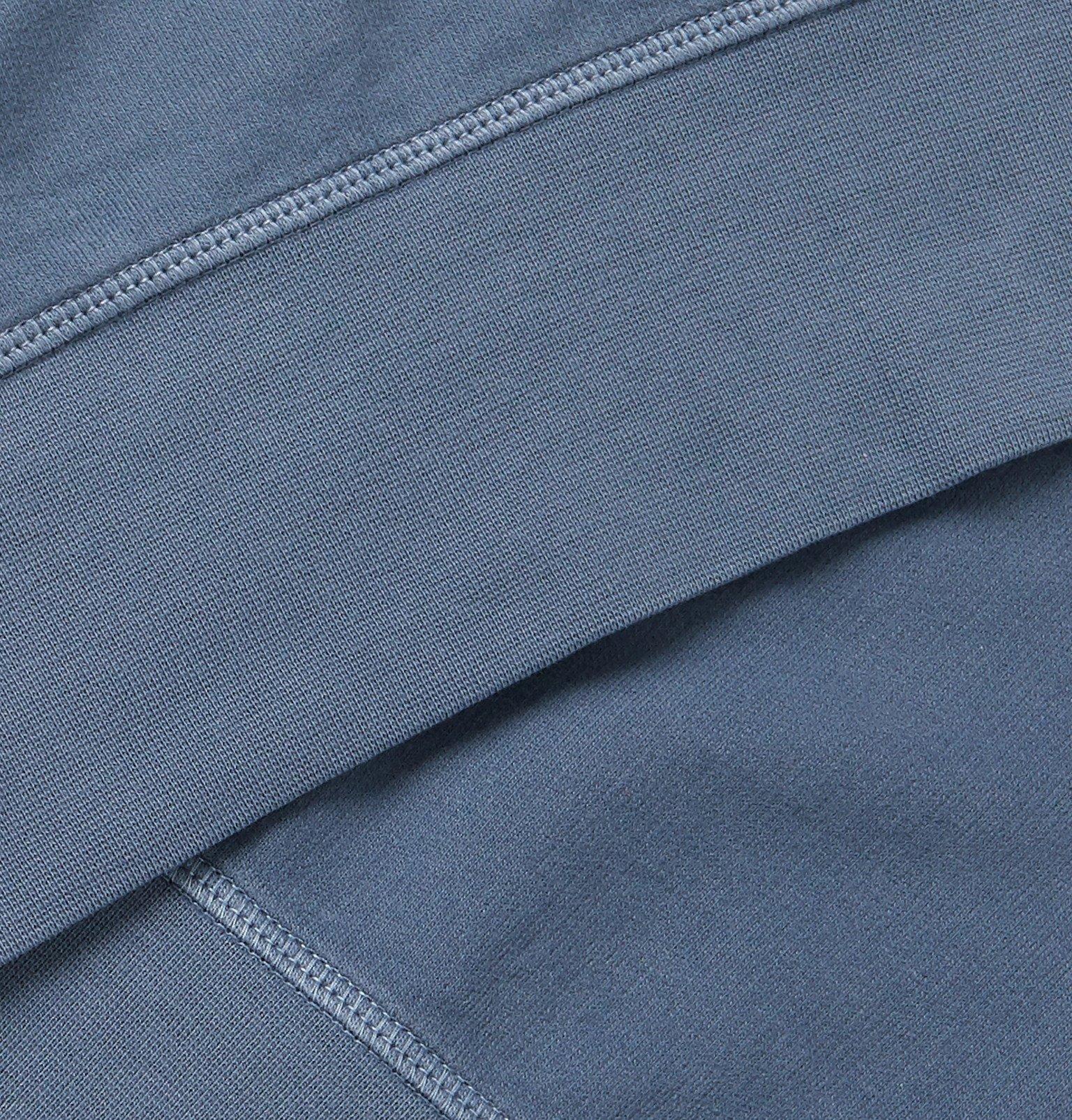 Officine Generale - Clement Pigment-Dyed Loopback Cotton-Jersey Sweatshirt - Blue
