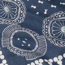 KAPITAL - Printed Selvedge Cotton Bandana - Navy