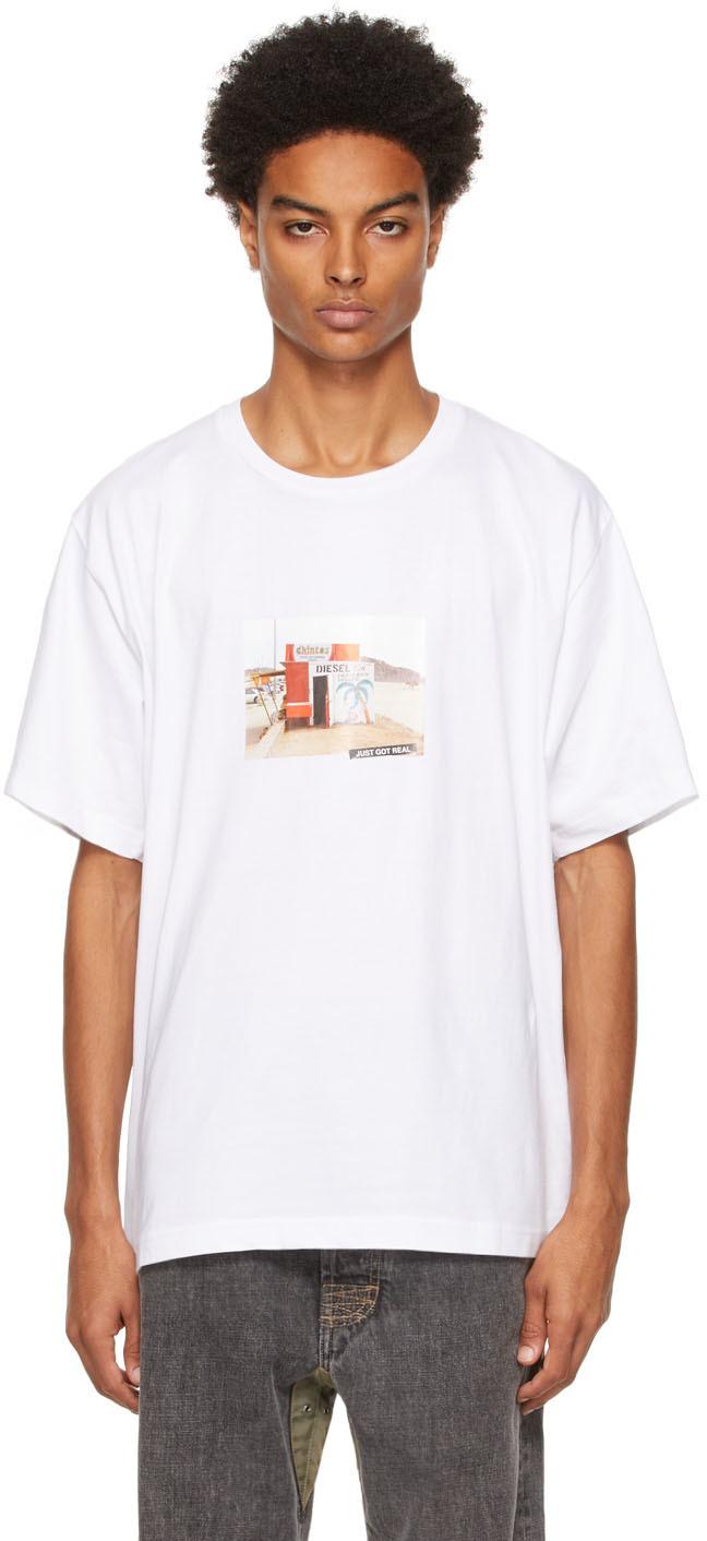 Photo: Diesel White T-Tubolar-B2 T-Shirt