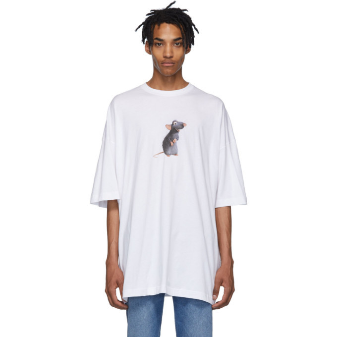 Photo: Vetements Two-Pack White Rat/Cheese Couple T-Shirt