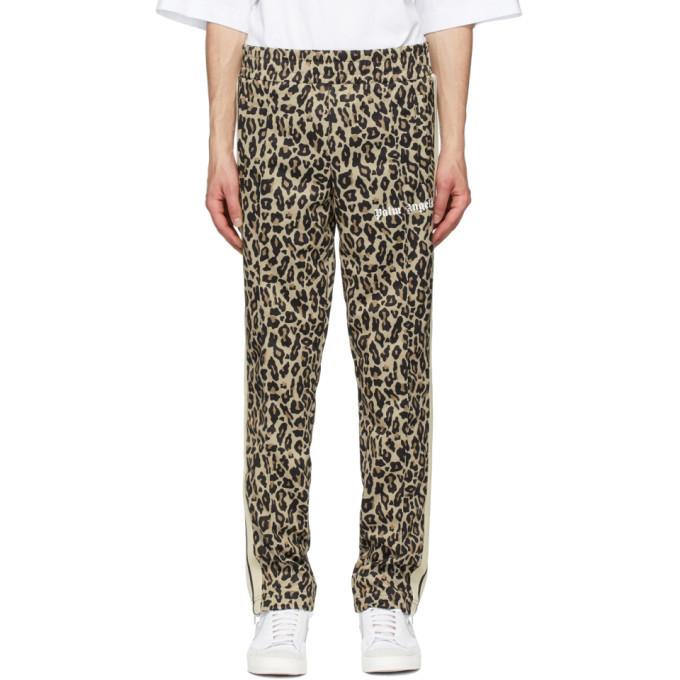 Photo: Palm Angels Beige and Black Leopard Track Pants