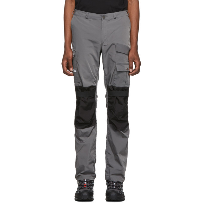 Photo: Heliot Emil Grey and Black Technical Cargo Pants