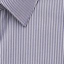 HUGO BOSS - Slim-Fit Pinstriped Cotton-Blend Shirt - Blue