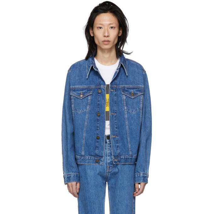 Photo: Calvin Klein Jeans Est. 1978 Blue Denim Trucker Jacket