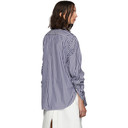 3.1 Phillip Lim Blue and White Gathered Sleeves Shirt