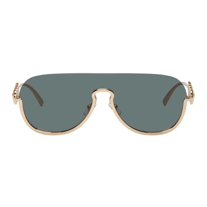 Photo: Versace Black Signature Medusa Mask Sunglasses