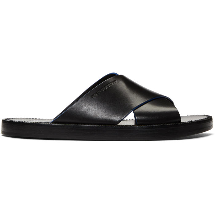 Photo: Burberry Black Leather Sandals