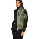 Sacai Navy and Khaki Panelled Jacket