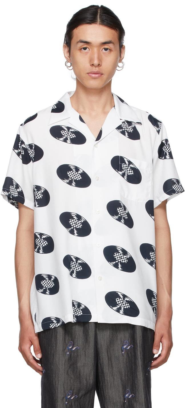Photo: WACKO MARIA White Vans Edition Short Sleeve Shirt