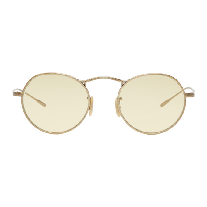 Photo: Oliver Peoples Gold and Yellow M-4 30th Sunglasses