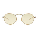 Oliver Peoples Gold and Yellow M-4 30th Sunglasses
