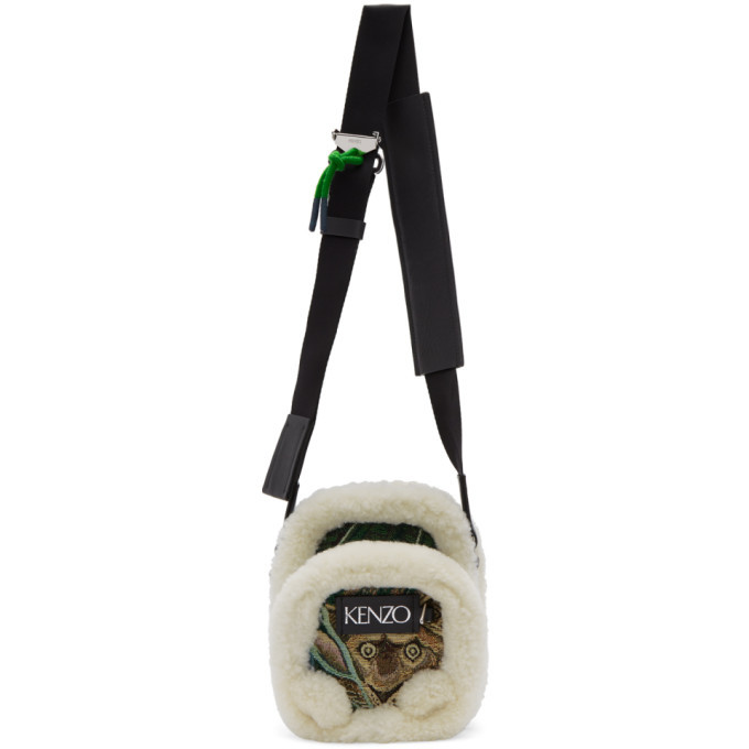 Photo: Kenzo Green Jacquard Small Crossbody Bag