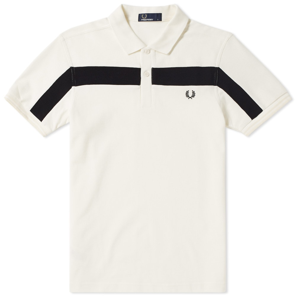 Photo: Fred Perry Textured Panelled Retro Polo
