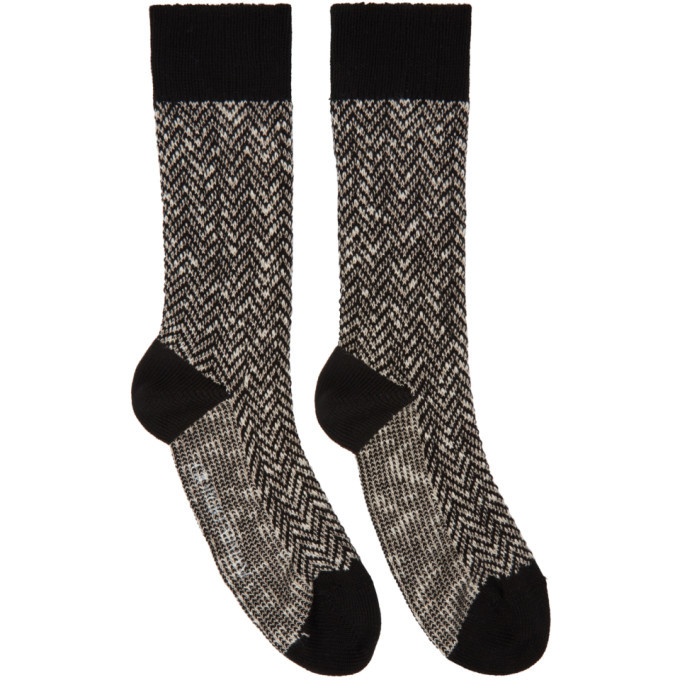 Photo: Giorgio Armani Black Patterned Fancy Socks
