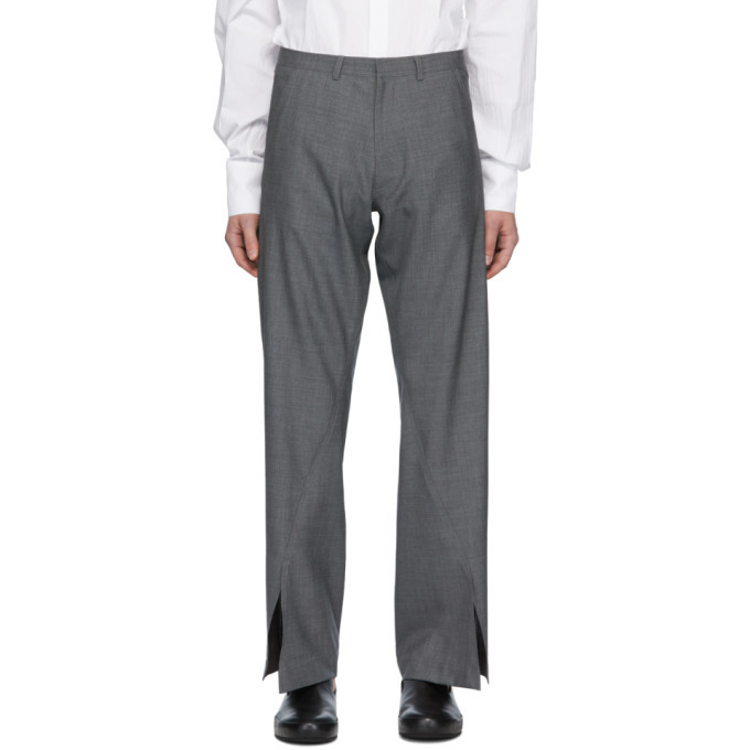 Photo: Bianca Saunders Grey Aul Split Cuff Trousers